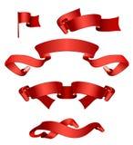 czerwone transparenty Zdjęcie Stock