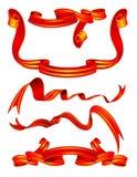 czerwone transparenty Zdjęcie Royalty Free