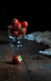 Czerwone truskawki Fotografia Royalty Free