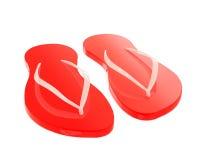 Czerwone trzepnięcie klapy odizolowywać na bielu Obrazy Royalty Free