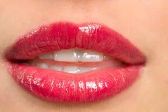 czerwone usta Obrazy Stock