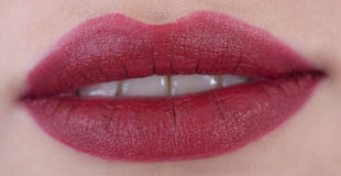 czerwone usta fotografia royalty free
