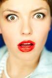 czerwone usta Zdjęcia Royalty Free
