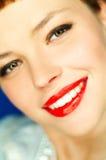 czerwone usta Zdjęcia Stock