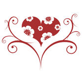 czerwone valentines ornament Fotografia Royalty Free