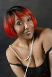 czerwone włosy kobiety Fotografia Royalty Free