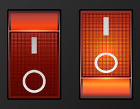 Czerwone światło elektryczna zmiana Zdjęcie Stock