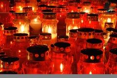czerwone świece. Fotografia Stock
