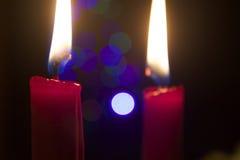czerwone świece Fotografia Royalty Free
