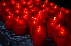 czerwone świece Zdjęcie Royalty Free