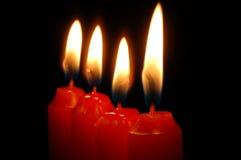 czerwone świece. Zdjęcie Royalty Free