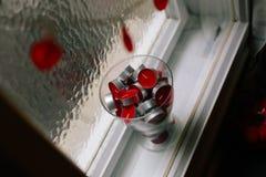 czerwone świece Obraz Royalty Free