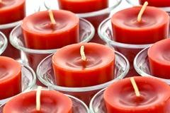 Czerwone świeczki Fotografia Stock