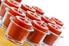 Czerwone świeczki Zdjęcia Stock