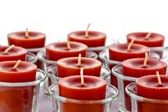 Czerwone świeczki Obrazy Royalty Free