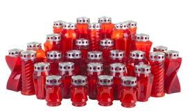 Czerwone świeczki Zdjęcie Royalty Free