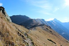 Czerwone Wierchy, montagne di Tatra, Polonia Fotografia Stock