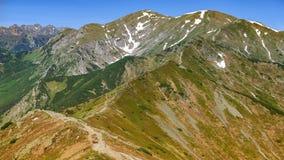 Czerwone Wierchy, Westelijke Tatras-Berg in Polen stock fotografie
