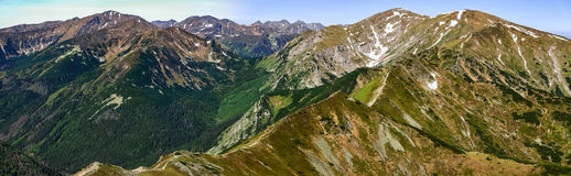 Czerwone Wierchy, Western Tatras Mountain in Poland Stock Photos