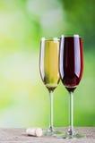 czerwone wino białe Zdjęcie Stock
