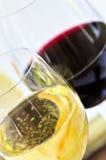 czerwone wino białe Fotografia Royalty Free