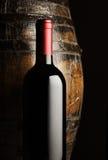 Czerwone wino butelka Obraz Stock