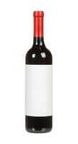 Czerwone wino butelka Fotografia Royalty Free