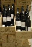 CZERWONE WINO butelki Fotografia Stock