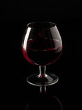 Czerwone wino i wineglass Zdjęcie Royalty Free