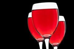 Czerwone wino na szkle Fotografia Royalty Free