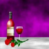 Czerwone wino róży romantyczny kwiat Zdjęcia Royalty Free