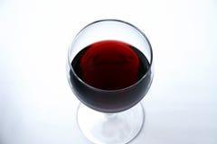 czerwone wino szklanej pojedyncze Zdjęcie Stock