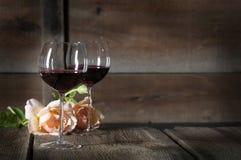Czerwone Wino w szkłach 2 Obraz Royalty Free