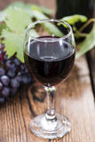 Czerwone Wino z świeżymi winogronami Obraz Royalty Free