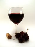 czerwone wino z winogron Zdjęcie Royalty Free
