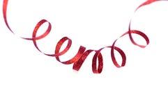 czerwone wstążki świąteczne Zdjęcia Royalty Free