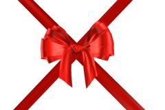 czerwone wstążki Zdjęcia Royalty Free