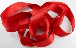 czerwone wstążki Obraz Royalty Free