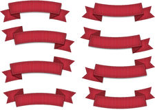 czerwone wstążki obrazy stock