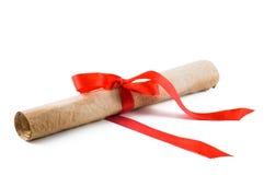 czerwone wstążki dyplomu Zdjęcie Royalty Free