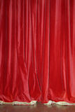 czerwone zasłony aksamit Obraz Royalty Free