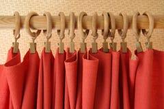 czerwone zasłony. Fotografia Stock