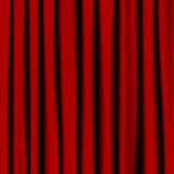 Czerwone zasłony Zdjęcia Stock