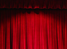 czerwone zasłony do teatru Obrazy Royalty Free