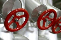 czerwone zawory Zdjęcie Royalty Free