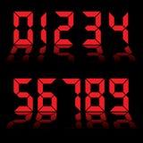 czerwone zegarowe cyfrowe liczby Zdjęcia Royalty Free