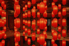 czerwonego 2 lampionu Zdjęcia Stock