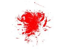 Czerwonego atrament akwareli farby splatter pluśnięcia grunge tła kleksa tekstury splat sztuki abstrakcjonistyczna kiść ilustracji