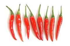 Czerwonego chili pieprze Zdjęcia Stock