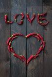 Czerwonego Chili pieprzu miłość Zdjęcie Stock